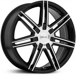Helo HE884  Rims Gloss Black W/ Machined Face