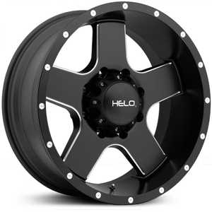 Helo HE886  Wheels Satin Black Black W/ Milling
