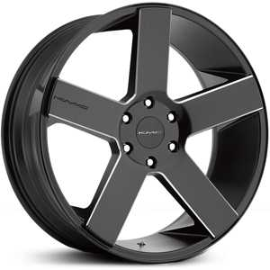 KMC KM690  Wheels Satin Black Black  W/ Milling