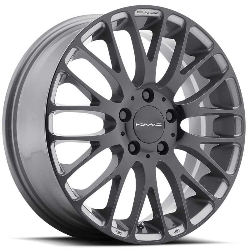 KMC KM693  Wheels Pearl Gray W/ Gloss Black Face