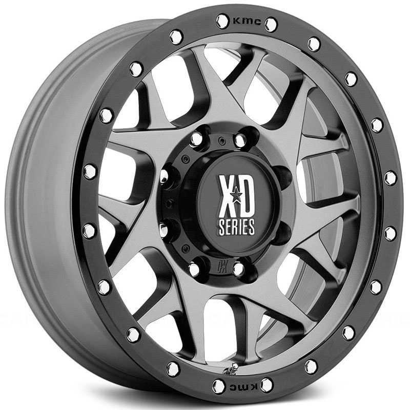 KMC XD Series XD127  Wheels Matte Gray W/ Black Ring