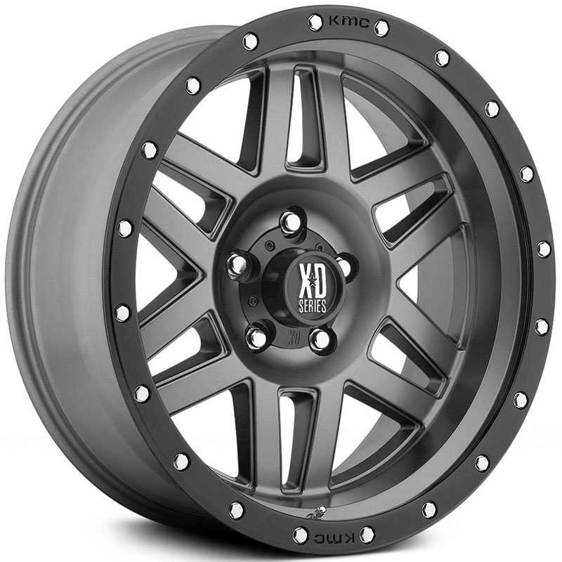KMC XD Series XD128  Wheels Matte Gray W/ Black Ring