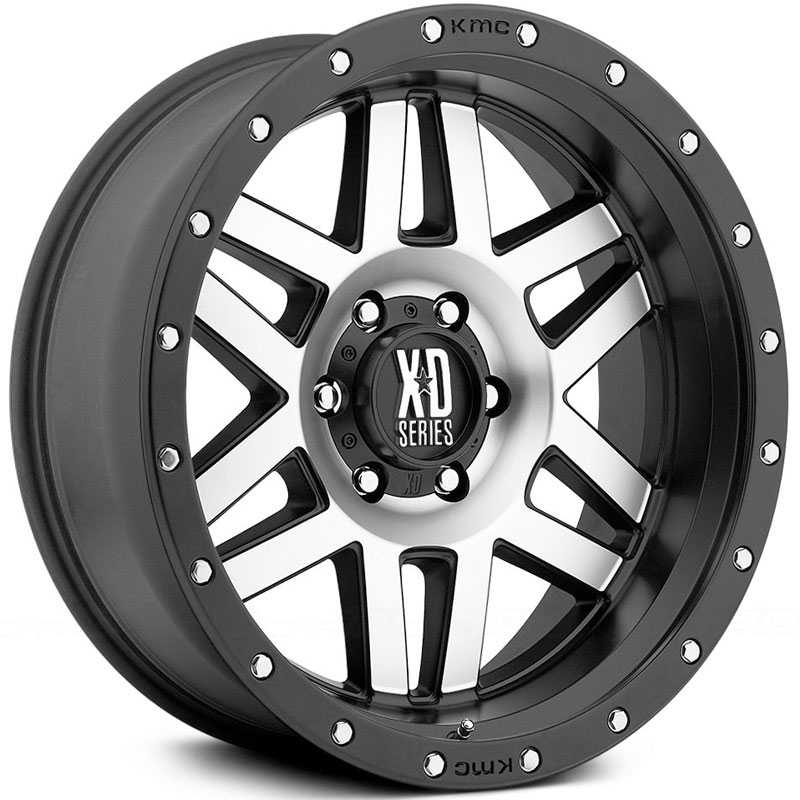 XD Series XD128 Satin Black Machined Face