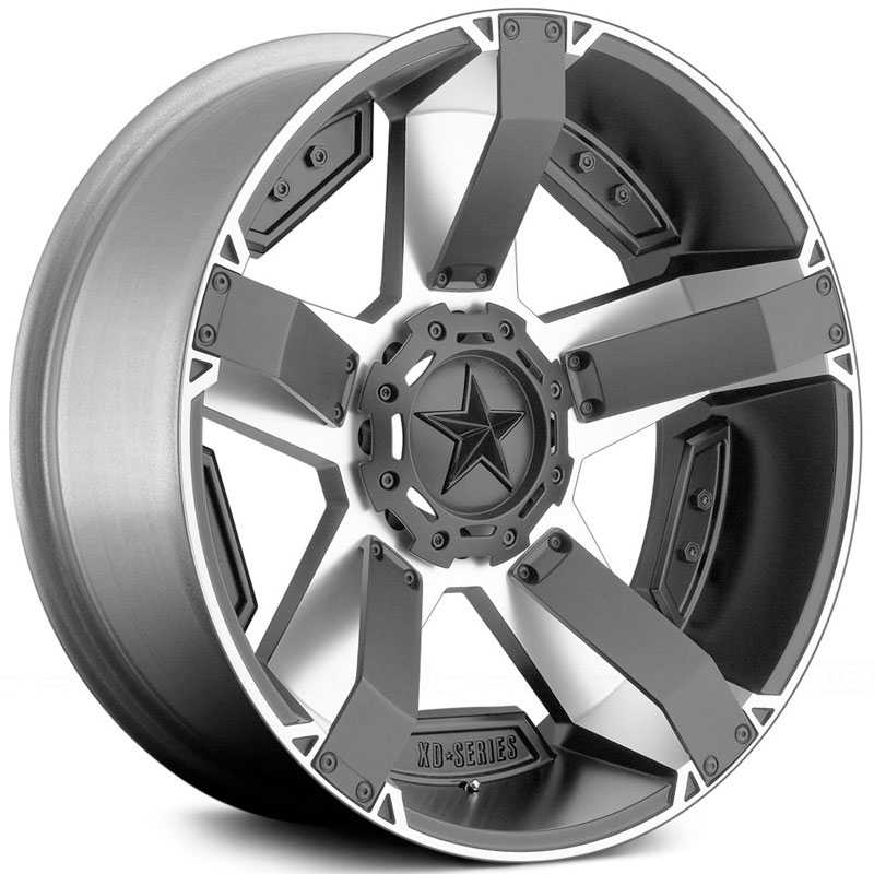 KMC XD Series XD811 Rockstar II  Wheels Machined Face W/ S-Blk Windows
