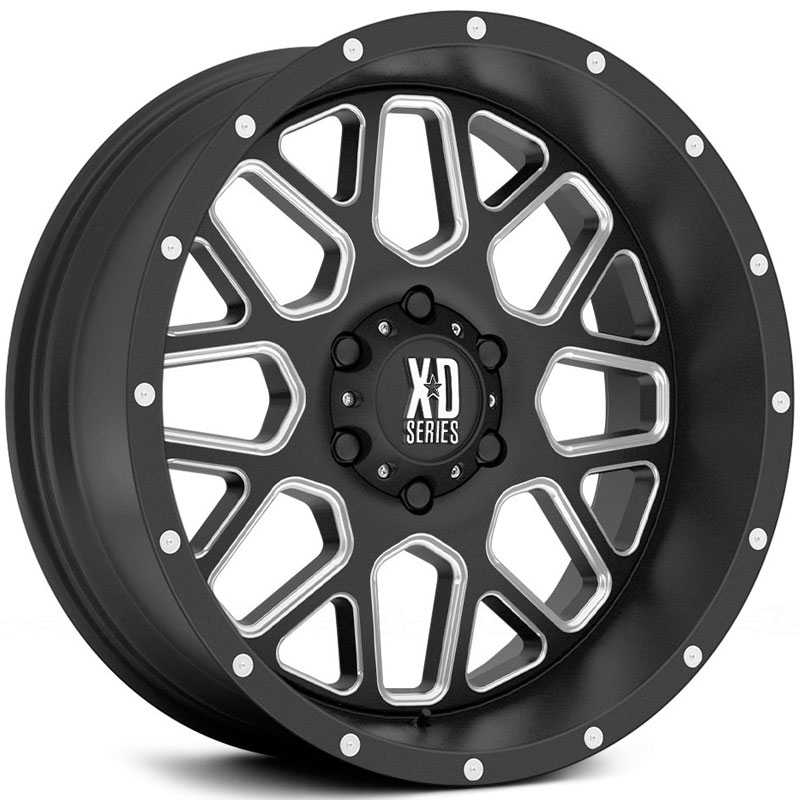 KMC XD Series XD820  Wheels Satin Black Black W/ Milling
