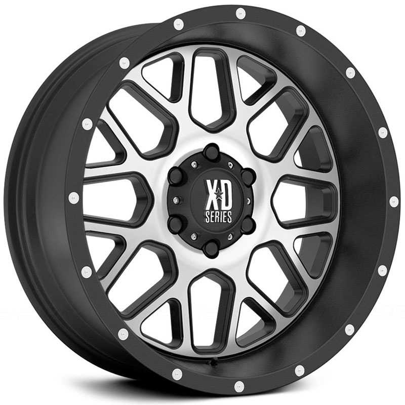 KMC XD Series XD820  Wheels Satin Black W/ Machined Face