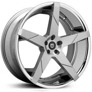 Lexani Invictus-Z  Rims Gunmetal w/ Stainless Steel Lip