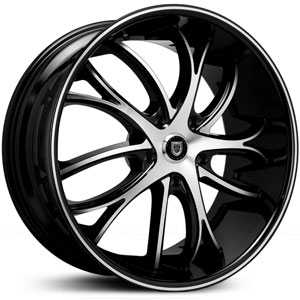 Lexani Polaris  Wheels Machined Black