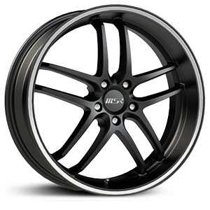 MSR 085  Wheels Black with Superfinish Stripe