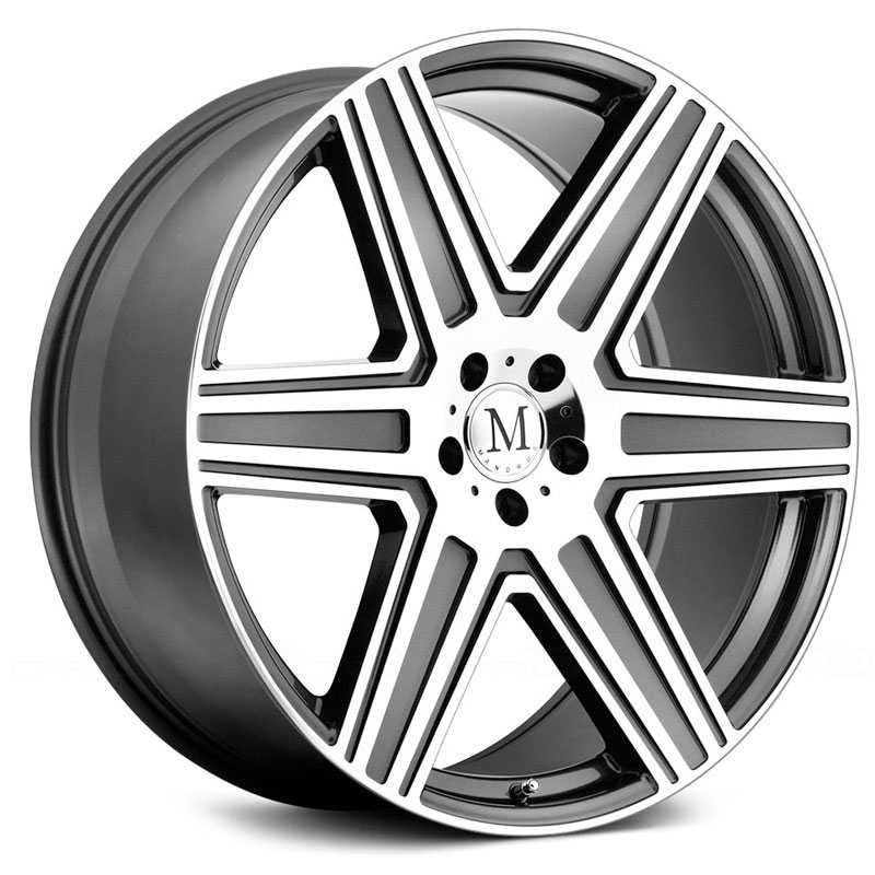 Mandrus Atlas  Rims Gunmetal w/Mirror Cut Face