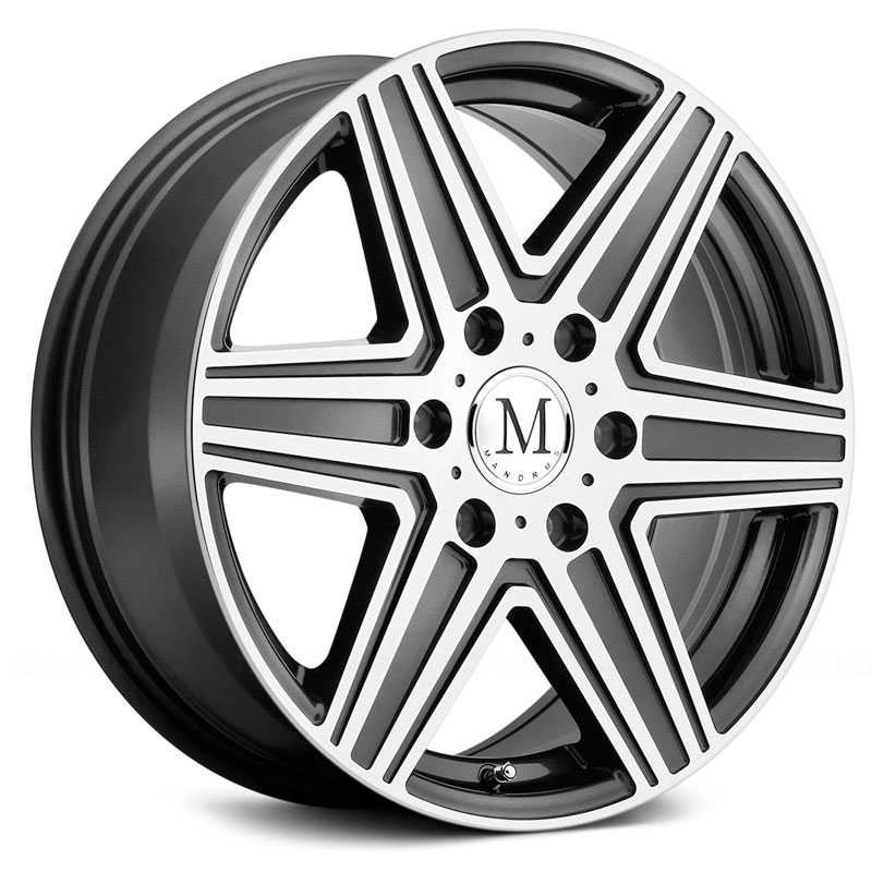 Mandrus Atlas  Rims Gunmetal w/Mirror Cut Face 6 Lug