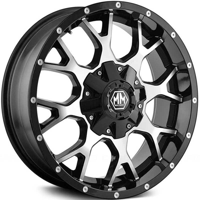 Mayhem  Warrior 8015  Wheels Black / Machined Face