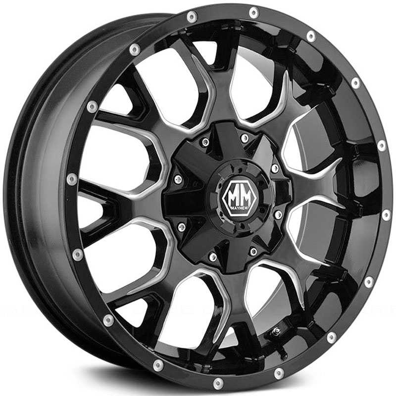 Mayhem  Warrior 8015  Wheels Black / Milled Spokes