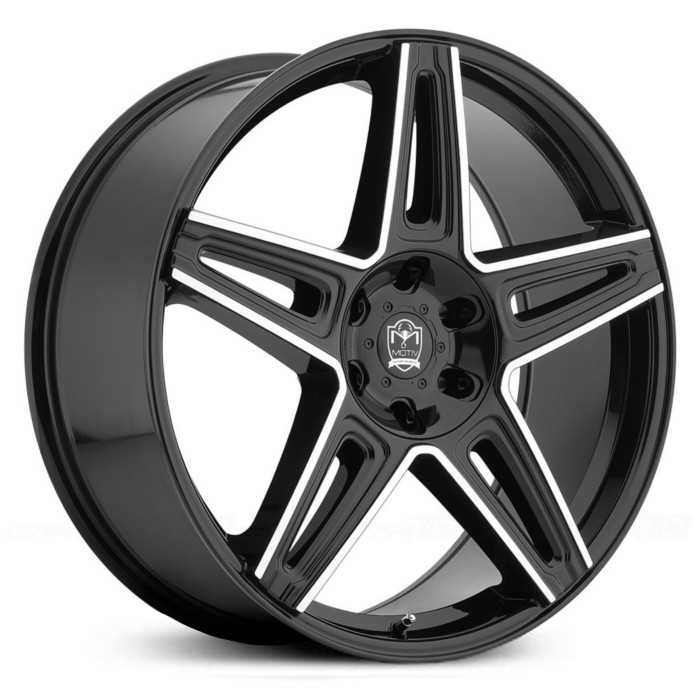 Motiv 415MB Mythic  Wheels Gloss Black w/ Mirror Machined Accents