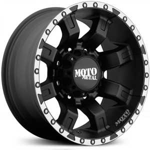 Moto Metal MO968  Wheels Satin Black W/ Machined Flange