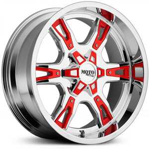 Moto Metal MO969  Wheels Chrome W/ Red Accents