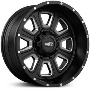 Moto Metal MO972  Wheels Satin Black w/ Milled Spokes