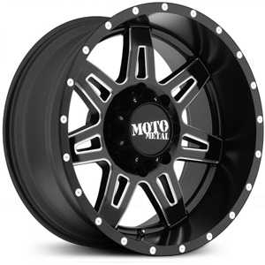 Moto Metal MO975  Wheels Satin Black Black  W/ Milling