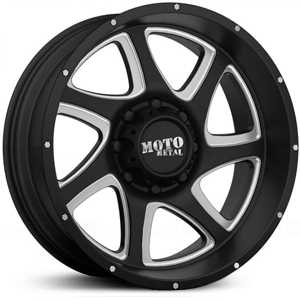 Moto Metal MO976  Wheels Satin Black Black  W/ Milling
