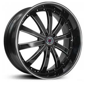 Red Sport RSW77A  Wheels Black