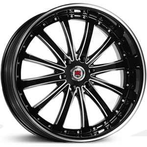 Red Sport RSW77B  Wheels Black