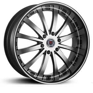 Red Sport RSW77B  Wheels Black and Machined