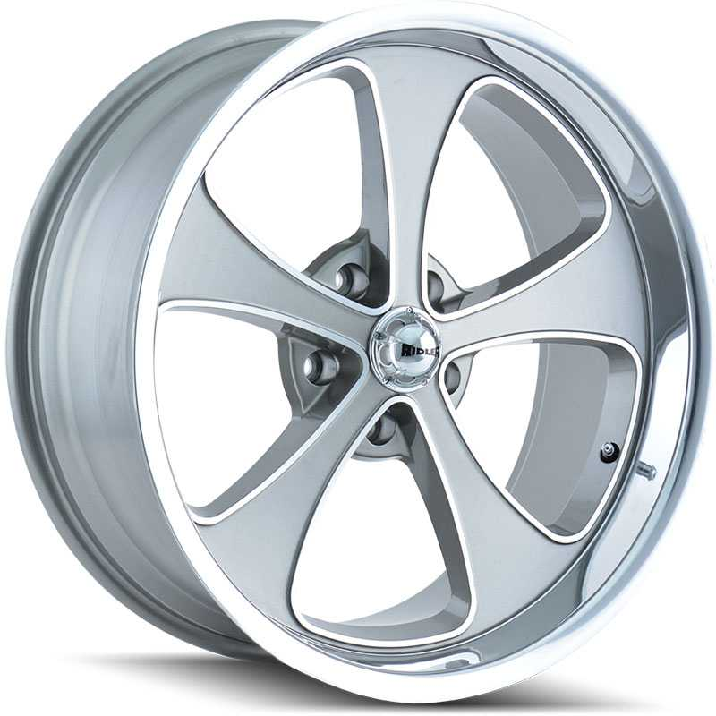 Ridler 645  Wheels Grey/Machined Face/Polished Lip