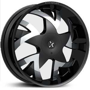 Starr RockNStarr 962 Stones  Wheels Black w/ Chrome Inserts
