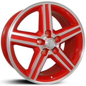 SIK 051  Wheels Red & Machined
