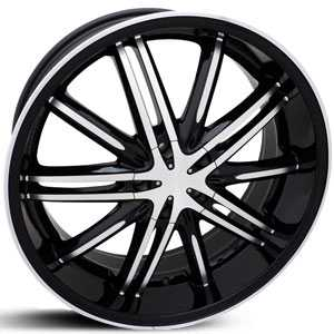 SIK 55  Wheels  Black Machined