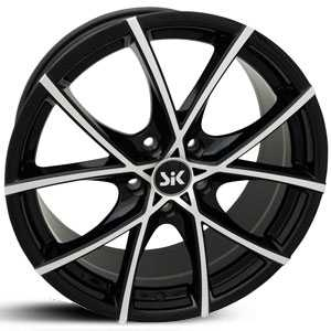 SIK 56  Wheels Black Machined