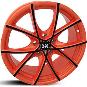 SIK 56  Wheels Orange w/ Black Accents