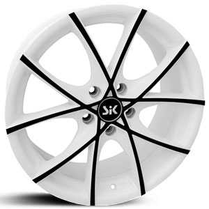 SIK 56  Wheels White w/ Black Accents