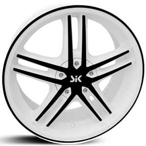 SIK 57  Wheels White w/ Black Accents