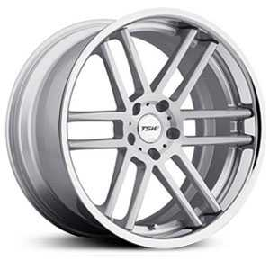 TSW Rouen  Wheels Silver w/ Brushed Face & Chrome  Stainless Lip