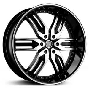 Velocity 125B  Wheels Black Machined