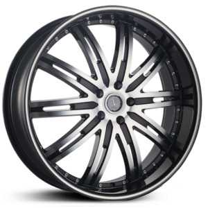 Velocity 865A  Wheels Black/Machined