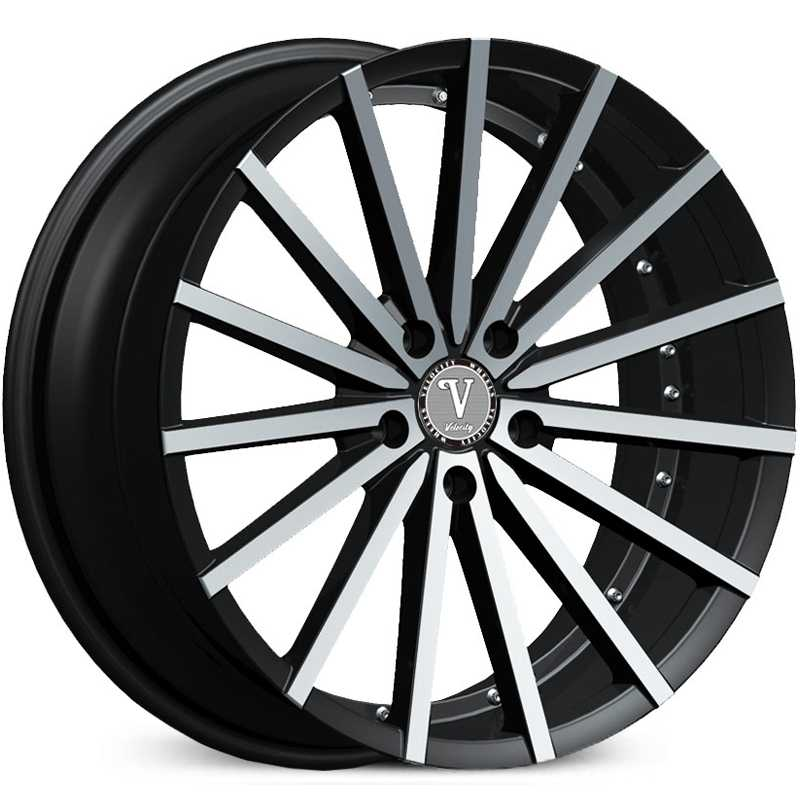 Velocity VW-17A  Wheels Machined Black