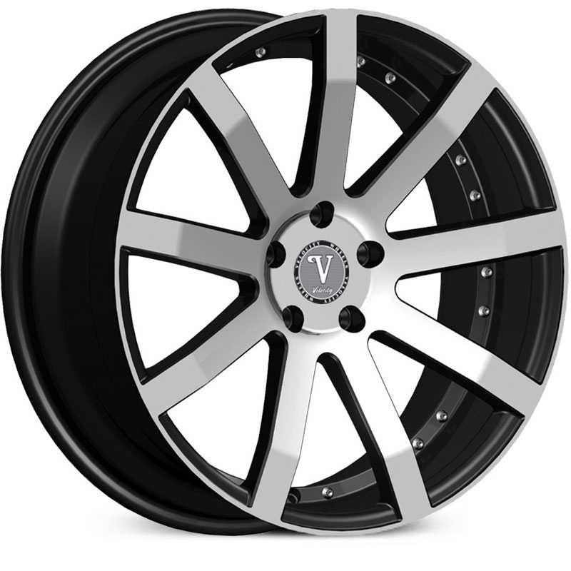 Velocity VW-19  Wheels Machined Black