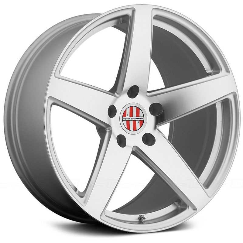 Victor Equipment Baden  Wheels Silver W/Mirror Cut Face
