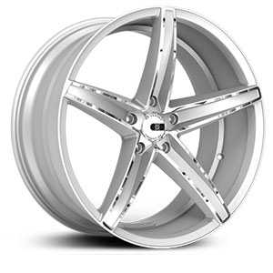 XO Luxury St.Thomas X250  Wheels Gloss Silver w/ Chrome Stripe