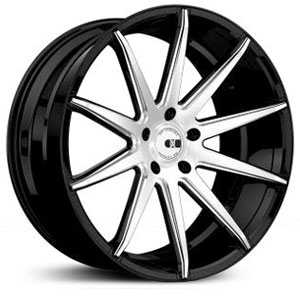 XO Luxury Sydney X252  Wheels Matte Black w/ Brushed Face & Milling
