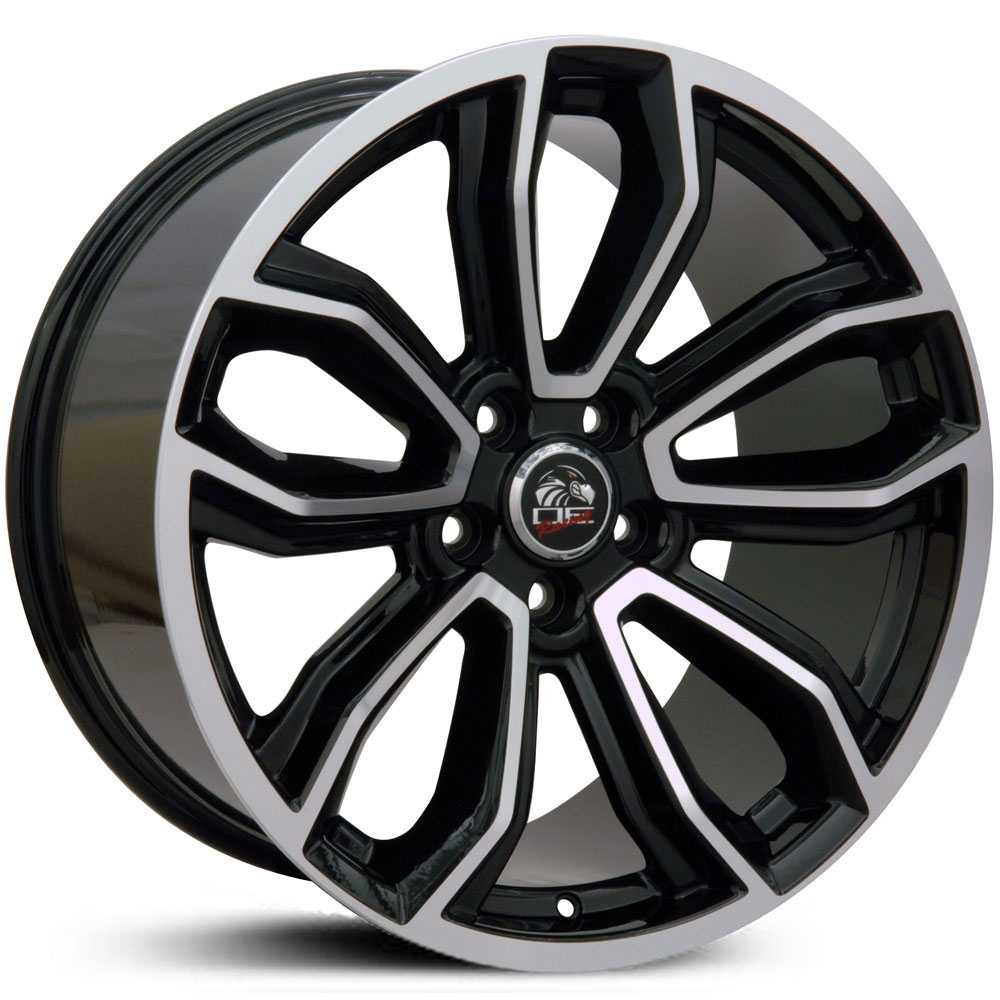 Fits Ford Mustang FR17  Wheels Black Machined