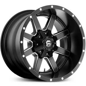 D538 Maverick Matte Black Milled Deep Lip