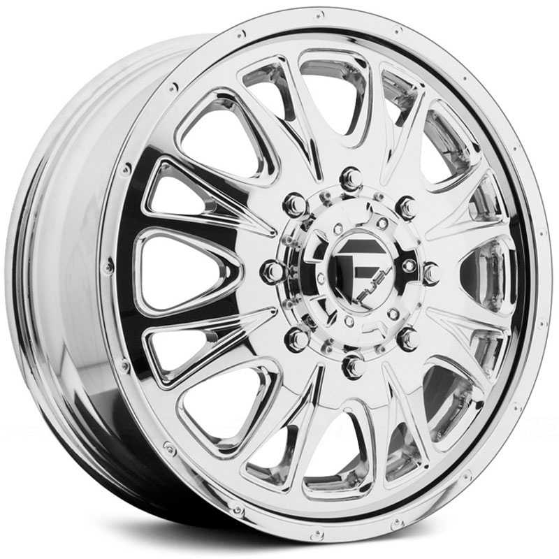 Fuel Offroad D212 Throttle Dually  Rims Chrome (Rear)