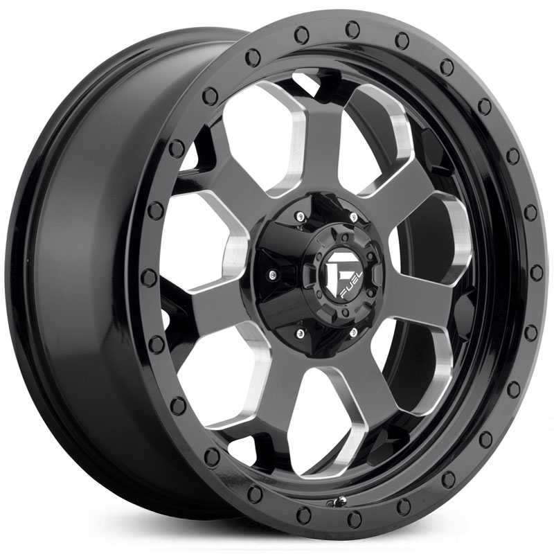 Fuel Offroad D563 Savage  Wheels Gloss Black & Milled