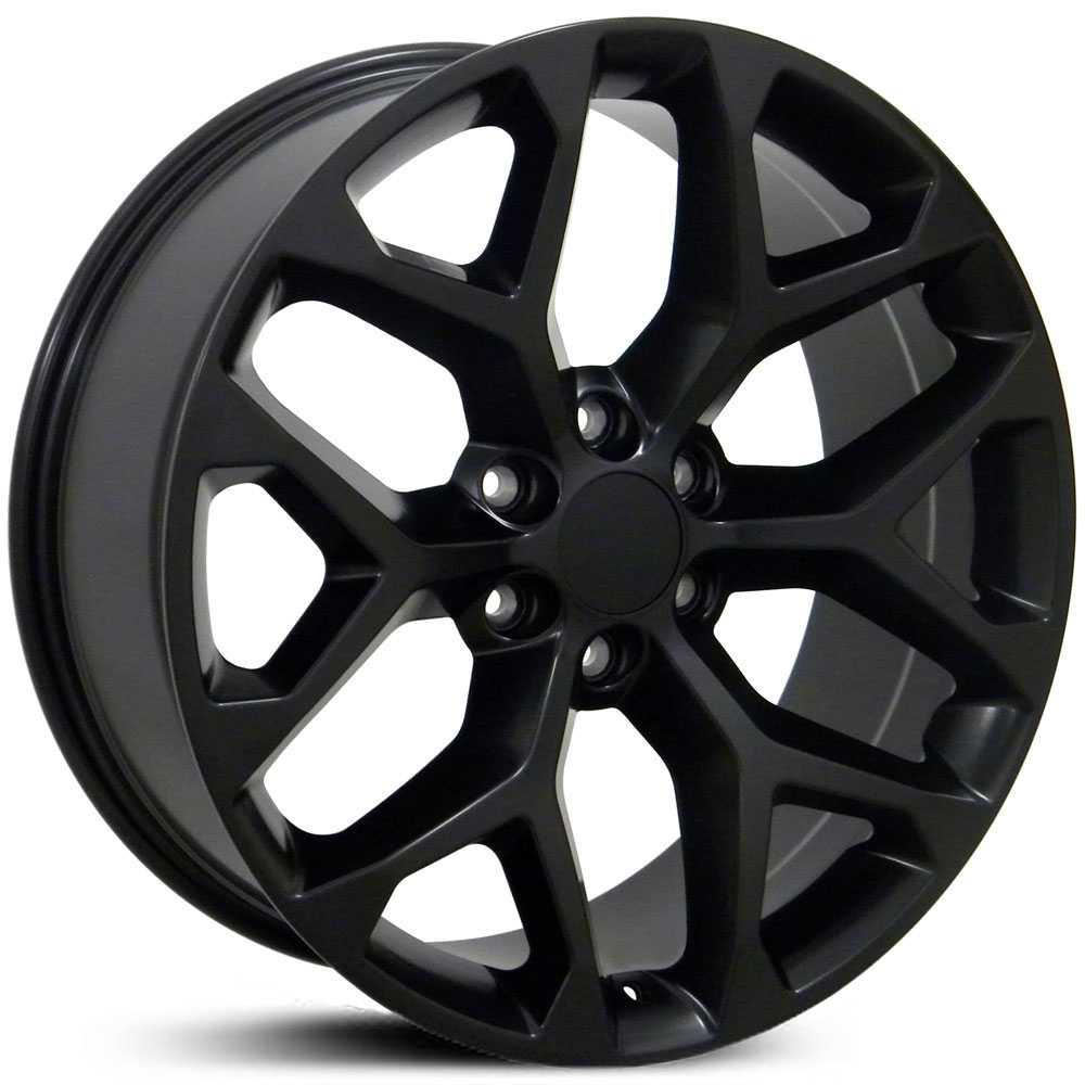 GMC 22X9 Sierra 1500 Style (CV98) Matte Black MID Wheels ...