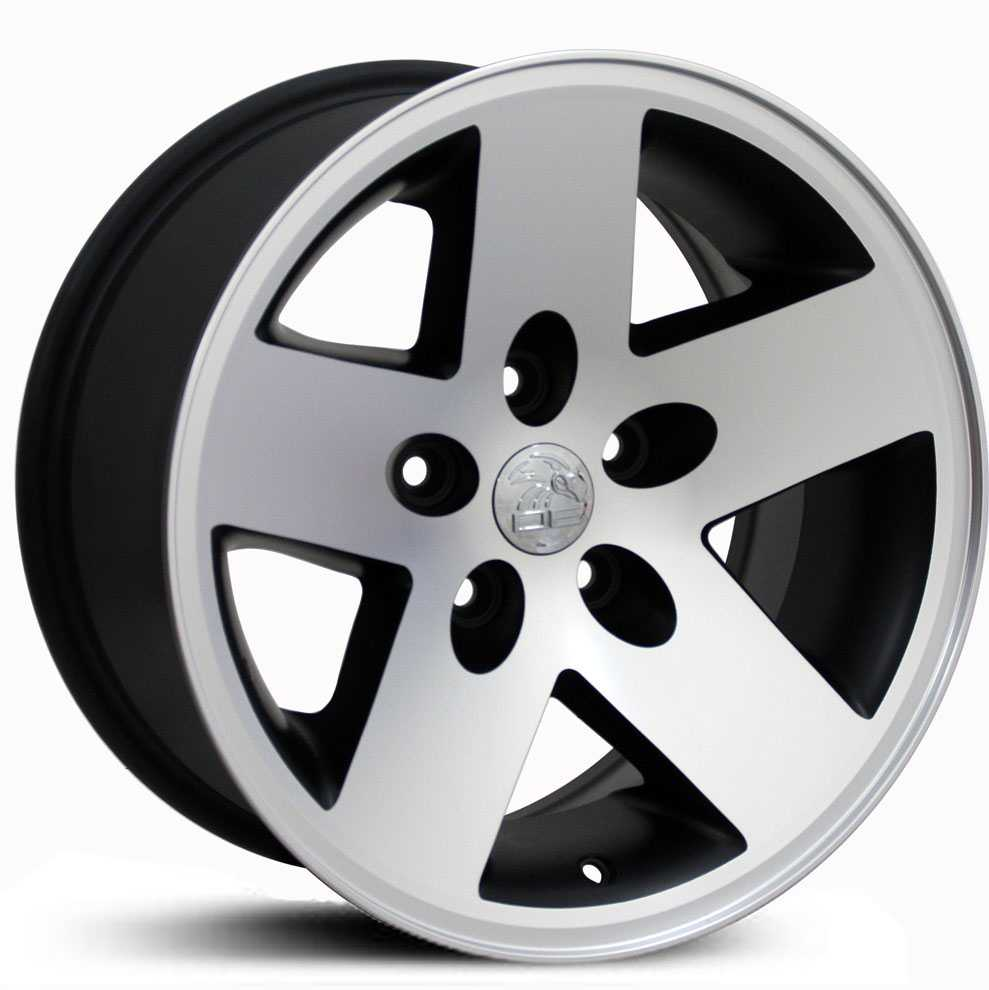 Jeep Wrangler JP18  Wheels Matte Black Machined Face