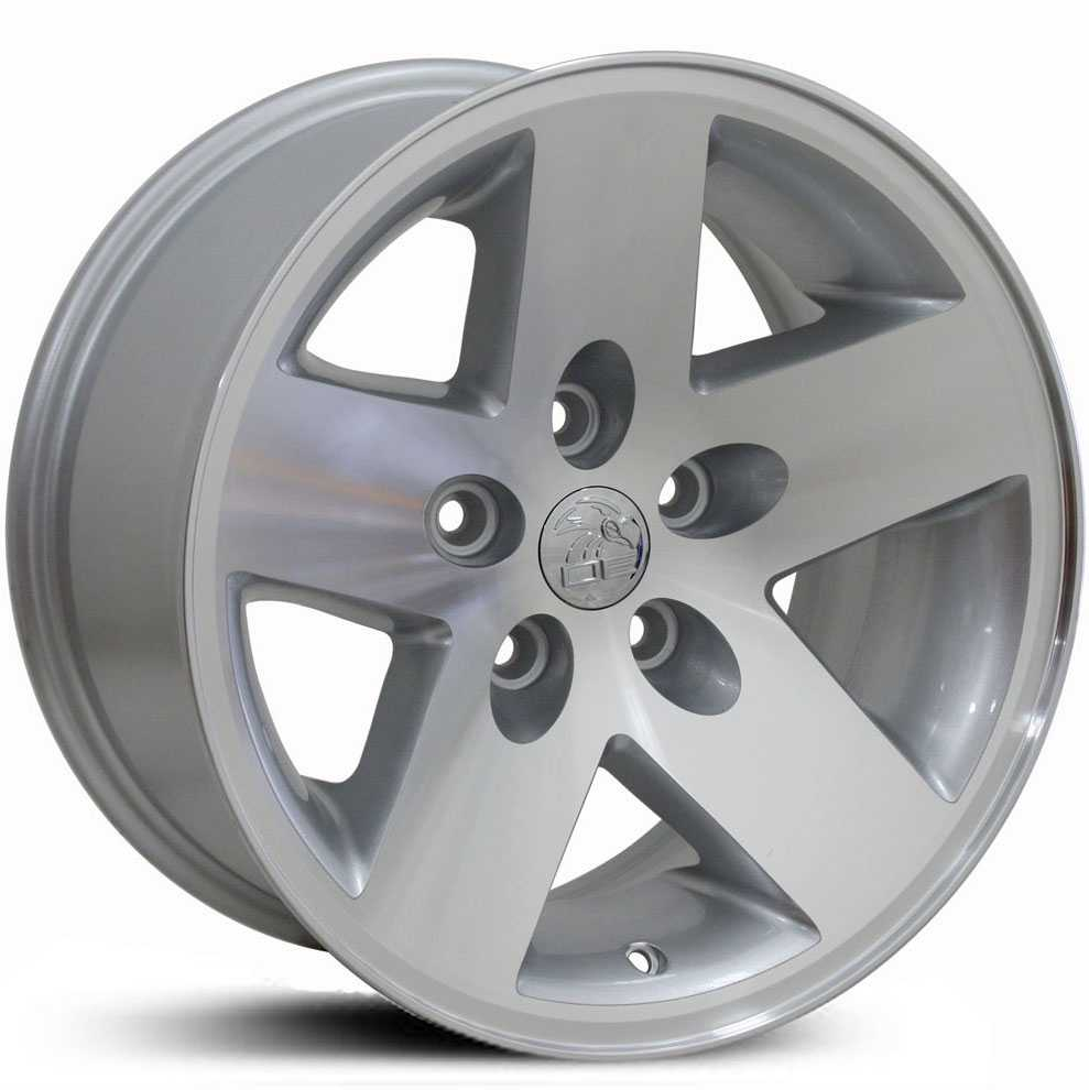Jeep Wrangler JP18  Wheels Silver Machined Face