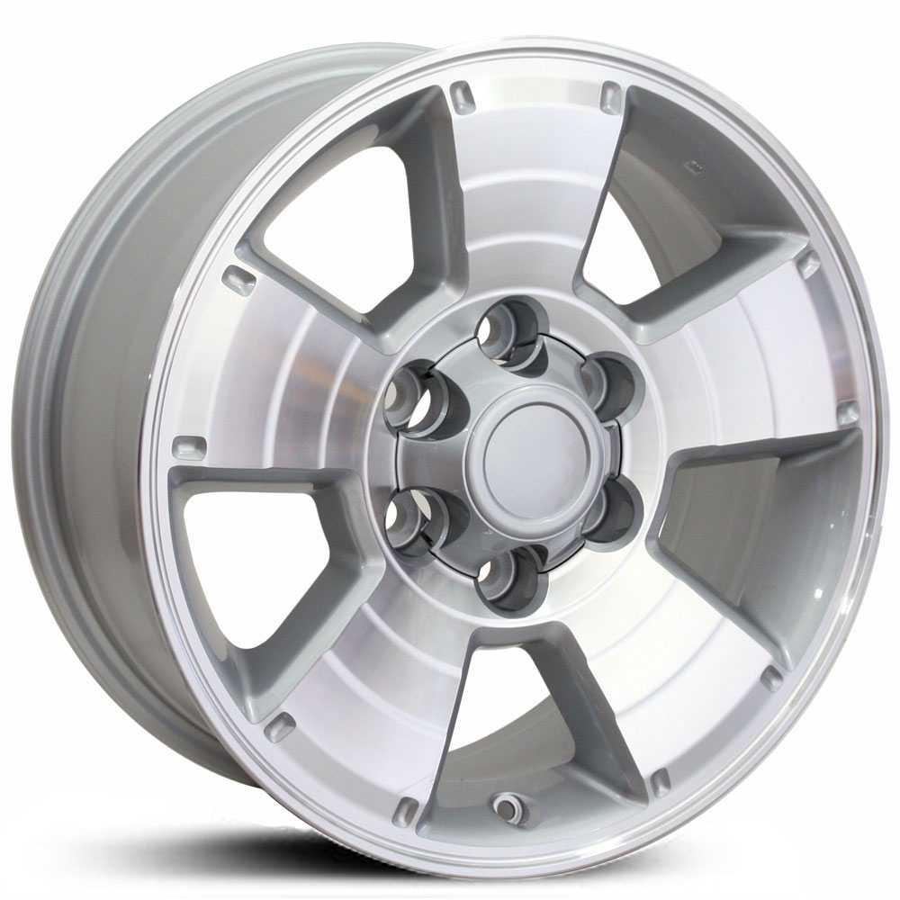 Toyota 4Runner (TY09)  Wheels Silver Machined Face
